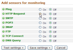 Website Monitoring Sensors